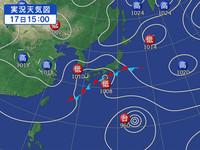 27年9月17日 天気図